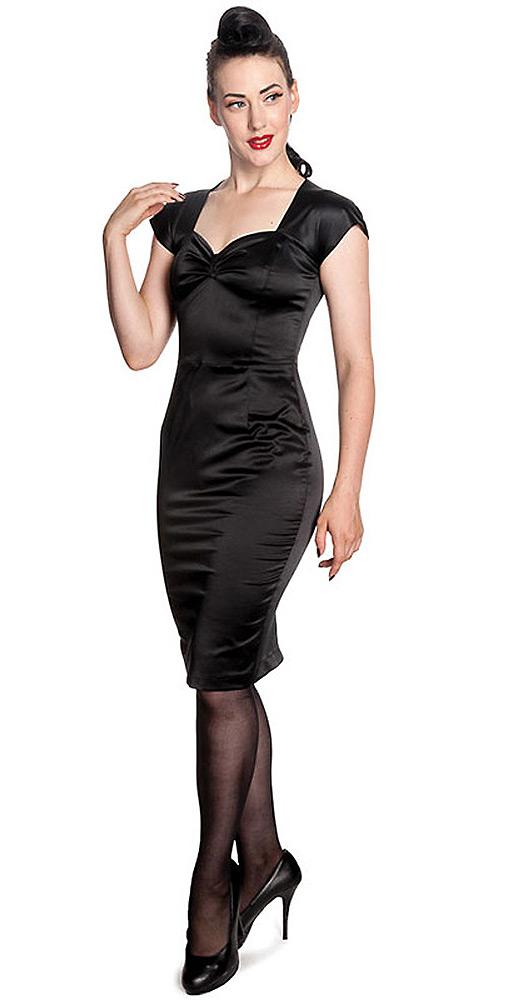 Image is loading dress-slinky-black-pin-up-50-chic-angie- bff52afaa