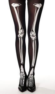 59f9ac1a8fd6 Leggings noir avec motifs os squelette blanc punk rock   JAPAN ...