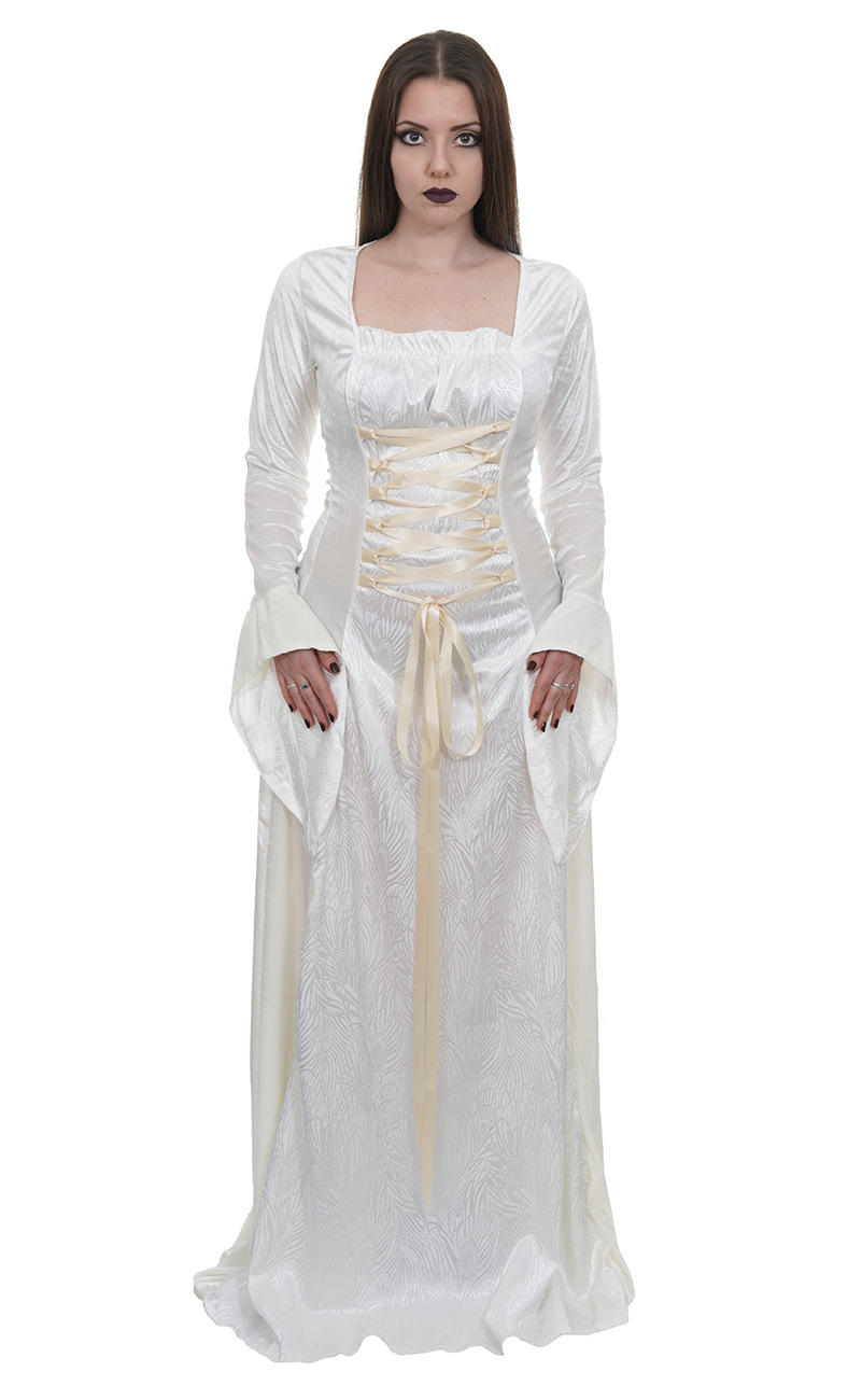 Pays Médiévale Occidentale Robe Manches De Mariée En Satin