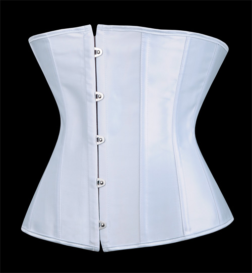 serre taille corset blanc satin sobre japan attitude. Black Bedroom Furniture Sets. Home Design Ideas