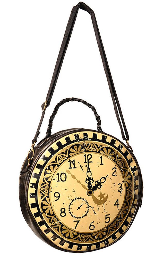 530bd44094 Sac à main rond en forme d'horloge victorienne steampunk banned ...