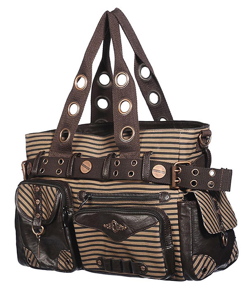 30529f53f746 Banned steampunk purse brown stripped