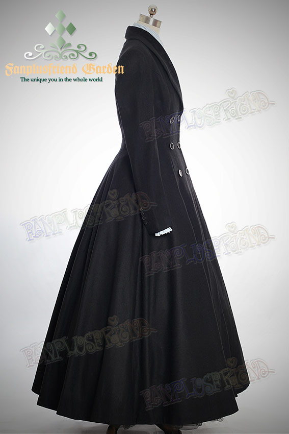 Élégant Gothique Chaud RéférenceVetves190 MinceBas Large De Aristocrate Taille Manteau Long Laine kX0OPn8w
