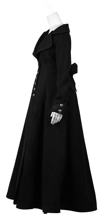 Longue veste noir fine