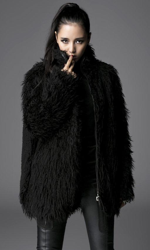 veste noire fausse fourrure capuche oreille d 39 ours punk. Black Bedroom Furniture Sets. Home Design Ideas