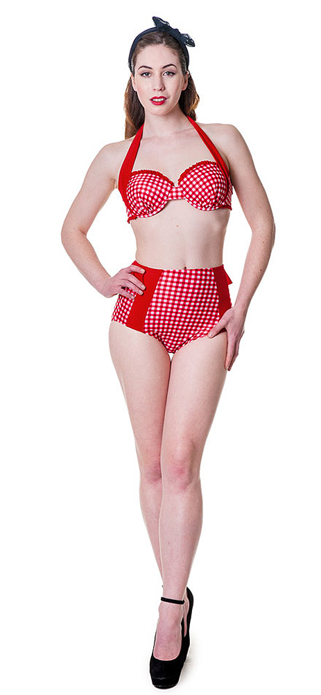 maillot de bain pin up retro rouge banned japan attitude. Black Bedroom Furniture Sets. Home Design Ideas