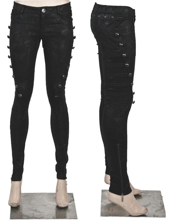 thésaurisation comme une denrée rare produits de commodité gamme exceptionnelle de styles et de couleurs Pantalon noir style militaire rock élégant gothique Punk Rave coupe femme  Référence : VETPAN102